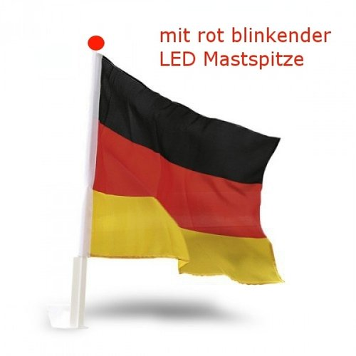 Autofahne Fahne Flagge Auto Deutschland Flag Germany LED