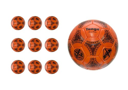 Ballpaket 10 Adidas Tango River Plate Ball Retro Fussball rot