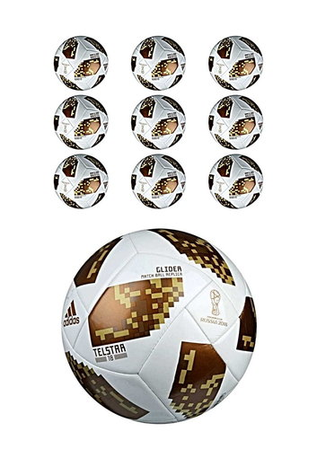 Adidas TELSTAR 18 WM 2018 Glider Ballpaket gold